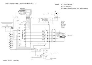 Пульт управления антеннами версия 1.1.5 на ATMEGA 328 PU